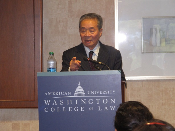 Harry Wu Speaks at American University School of Law